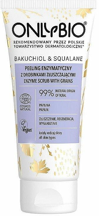 Exfoliante facial enzimático con papaína - Only Bio Bakuchiol & Skwalan Peeling