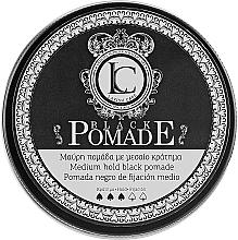 Perfumería y cosmética Pomada negra para cabello, fijación media - Lavish Care Black Pomade Medium Hold Black