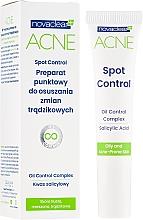 Perfumería y cosmética Gel facial antiacné con ácido salicílico - Novaclear Acne Spot Control