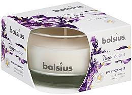 Perfumería y cosmética Vela aromática en tarro, lavanda y camomila 50/80 mm - Bolsius True Moods Candle