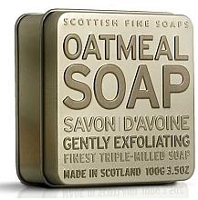 Perfumería y cosmética Jabón de manos y cuerpo triple molido con avena - Scottish Fine Soaps Oatmeal Soap In A Tin
