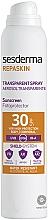 Perfumería y cosmética Spray protector solar corporal, resistente al agua SPF 30 - SesDerma Laboratories Repaskin DNA Repair Spray Transparente SPF30