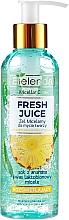 Perfumería y cosmética Gel limpiador iluminante con agua cítrica bioactiva, piña y ácido lactobiónico - Bielenda Fresh Juice Micellar Gel Pineapple