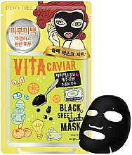 Perfumería y cosmética Mascarilla facial de tejido con extracto de caviar negro - Dewytree Vita Caviar Black Sheet Mask