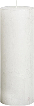 Perfumería y cosmética Vela cilíndrica, Metallic White, 190/68 mm - Bolsius Candle