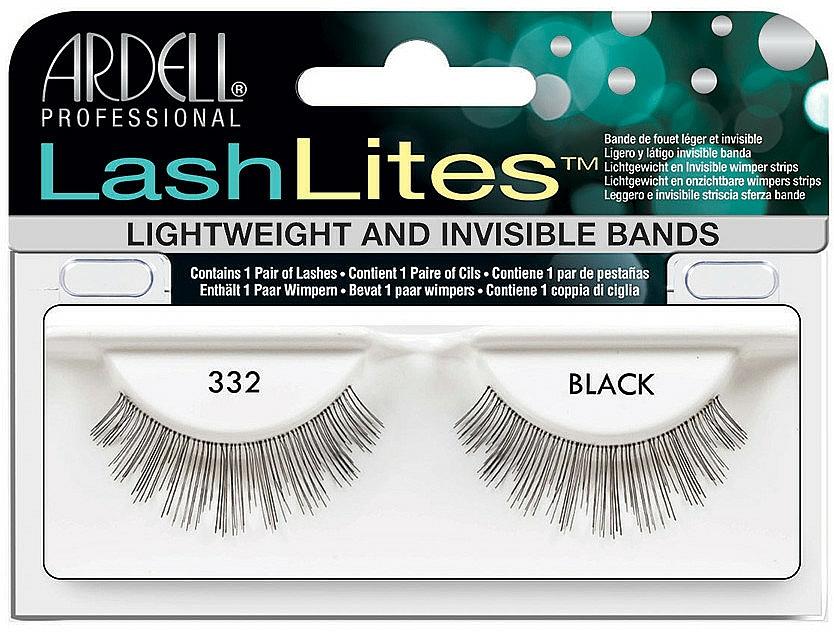 Pestañas postizas con banda invisible - Ardell LashLites Black 332 — imagen N1