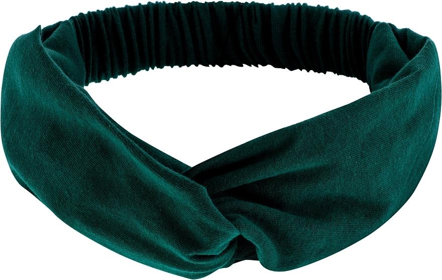 """Cinta de pelo, de tela, esmeralda """"Knit Twist"""" - MakeUp Hair Accessories"""