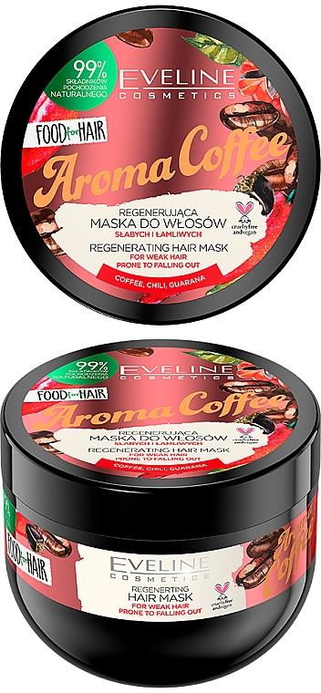 Mascarilla capilar con aroma a café que estimula el crecimiento del cabello - Eveline Cosmetics Food For Hair Aroma Coffee Hair Mask