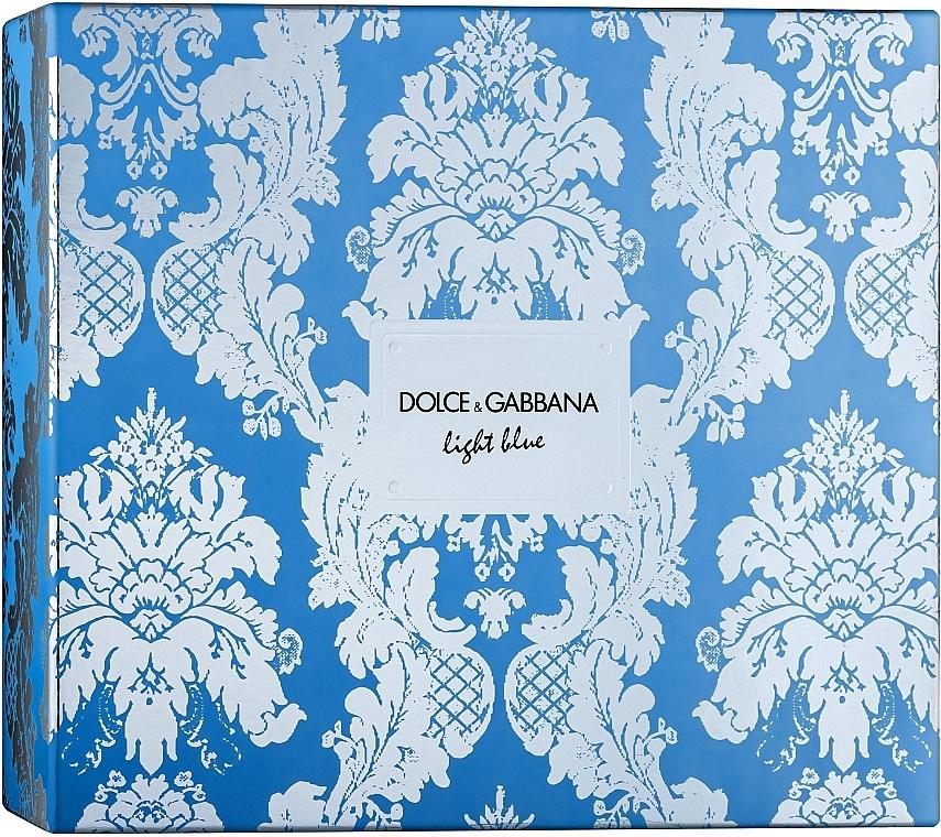 Dolce & Gabbana Light Blue - Set (eau de toilette/100ml + crema corporal refrescante/50ml + eau de toilette/mini/10ml)