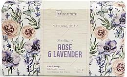 Perfumería y cosmética Jabón natural de manos con rosa & lavanda - IDC Institute Soothing Hand Natural Soap Rose & Lavender