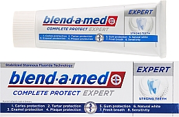 Pasta dental con fluoruro - Blend-a-med Oral-B Complete Protect Expert Strong Teeth Toothpaste — imagen N1