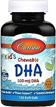 Perfumería y cosmética Complemento alimenticio en cápsulas de DHA con sabor a naranja, 100 mg - Carlson Labs Kid's Chewable DHA