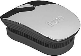 Perfumería y cosmética Cepillo desenredante - Ikoo Pocket Oyster Metallic Black
