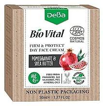Perfumería y cosmética Crema facial reafirmante con extracto de granada y manteca de karité - DeBa Bio Vital Firm and Protect Day Face Cream with Pomegranate Extract