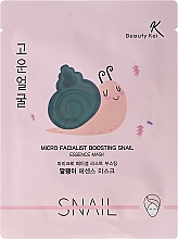 Perfumería y cosmética Mascarilla facial de algodón con extracto de baba de caracol - Beauty Kei Micro Facialist Boosting Snail Essence Mask