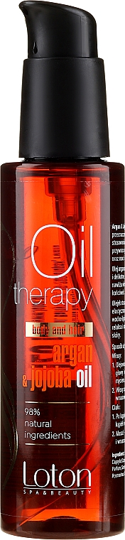 Aceite para cabello con argán y jojoba - Loton Argan & Jojoba Oil