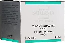 Perfumería y cosmética Mascarilla rejuvenecedora de rostro y ojos con ácido hialurónico - Terme Di Saturnia Rejuvenation Mask Face-Eyes