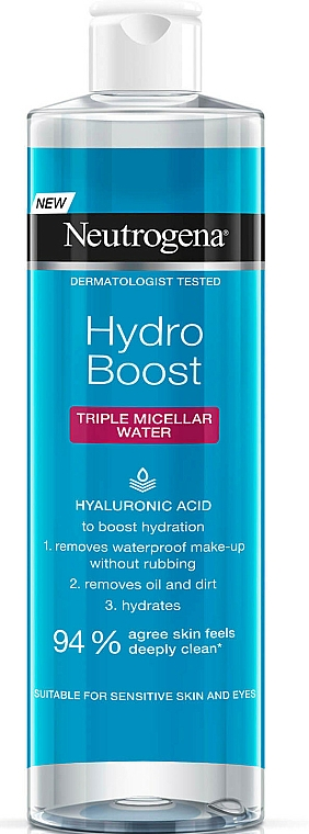 Agua micelar con ácido hialurónico - Neutrogena Hydro Boost Triple Micellar Water