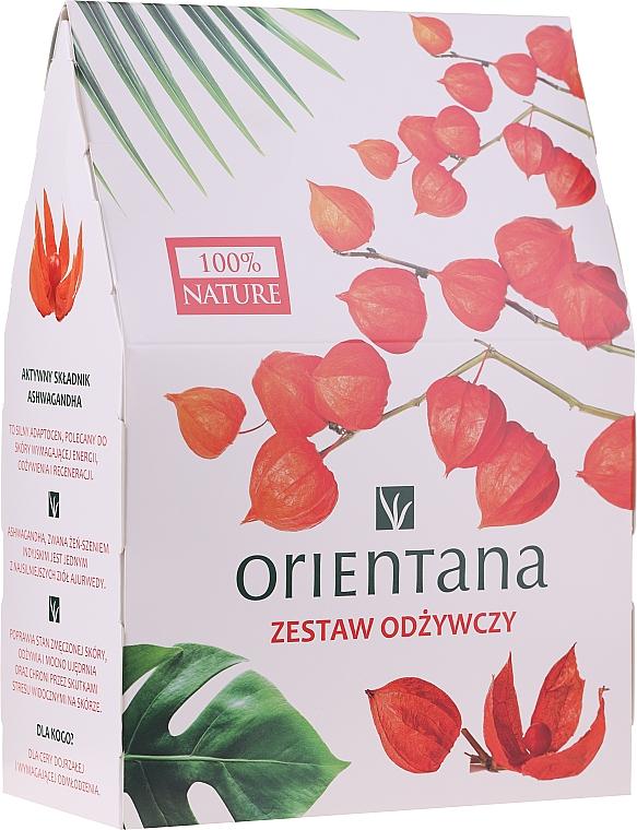 Set facial - Orientana Papaya (crema/40ml + exfoliante/50ml + mascarilla para contorno de ojos/1pad)