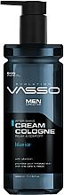 Perfumería y cosmética Crema colonia aftershave con alantoína - Vasso Professional Men After Shave Cream Cologne Blue Ice