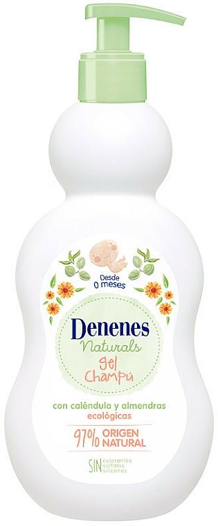 Gel de ducha y champú hipoalergénico para bebés con extracto de caléndula y almendras - Denenes Naturals Gel & Shampoo