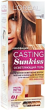 Perfumería y cosmética Gel aclarador de cabello con aceite de camelia, sin aclarado - L'Oreal Paris Casting Sunkiss