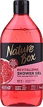 Perfumería y cosmética Gel de ducha natural revitalizante con glicerina, aceites de granada y coco - Nature Box Pomegranate Oil Shover Gel