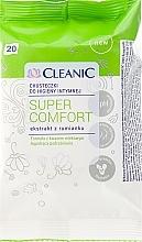 Perfumería y cosmética Toallitas húmedas íntimas, 20uds. - Cleanic Super Comfort Wipes