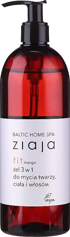 Gel de limpieza para rostro, cuerpo y cabello con aroma a mango, con dosificador - Ziaja Baltic Home Spa Gel Mango