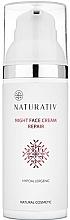 Perfumería y cosmética Crema de noche con ácido hialurónico, aceites de jojoba & argán y extractos de algas - Naturativ Facial Night Cream
