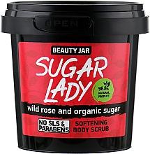 Perfumería y cosmética Exfoliante corporal natural con extracto de rosa silvestre y azúcar orgánico - Beauty Jar Softening Body Scrub