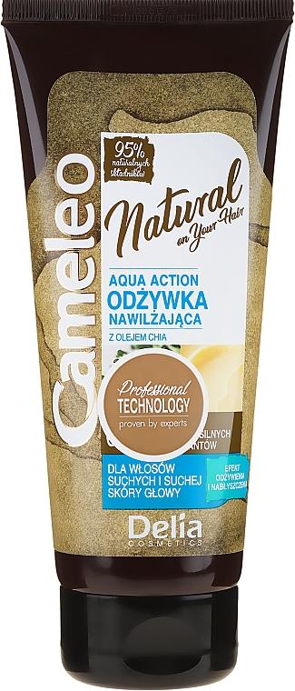 Acondicionador con aceite de chia - Delia Cameleo Natural On Your Hair Aqua Action — imagen N1