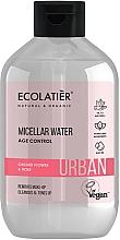 Perfumería y cosmética Agua micelar desmaquillante con flor de orquídea y rosa - Ecolatier Urban Micellar Water Age Control