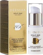 Perfumería y cosmética Crema antiedad con urea, ácido cítrico para contorno de ojos - Dermika Gold 24 Eye Cream