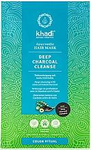 Perfumería y cosmética Mascarilla capilar con carbón activado y extracto de amla - Khadi Deep Charcoal Cleanse Haar Maske