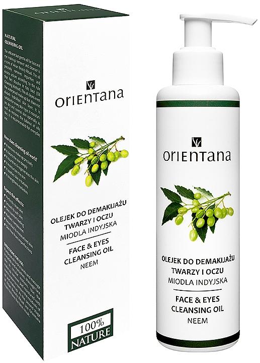 Aceite desmaquillante resistente al agua de neem 100% natural - Orientana Nourishing Cleansing Oil For Face & Eyes Neem