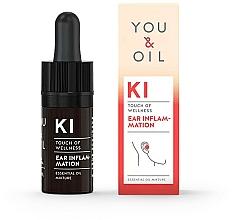 Perfumería y cosmética Mezcla de aceites esenciales para inflamación del oído - You & Oil KI-Ear Inflammation Touch Of Wellness Essential Oil