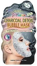 Perfumería y cosmética Mascarilla facial de tejido detoxificante con carbón, efecto burbujas - 7th Heaven Charcoal Detox Bubble Mask