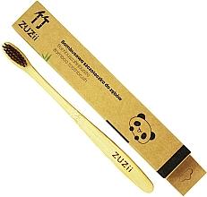 Perfumería y cosmética Cepillo de dientes suave de bambú, marrón - Zuzii Soft Toothbrush