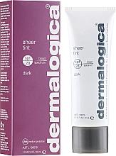 Perfumería y cosmética Crema facial con color con ácido hialurónico y extracto de semillas de nuez - Dermalogica Daily Skin Health Sheer Tint SPF20