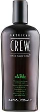 Perfumería y cosmética Champú, acondicionador y gel de ducha con extracto de árbol de té - American Crew Tea Tree 3-in-1 Shampoo, Conditioner and Body Wash