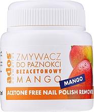 Perfumería y cosmética Quitaesmalte con esponja aroma a mango, sin acetona - Ados Acetone Free Nail Polish Remover