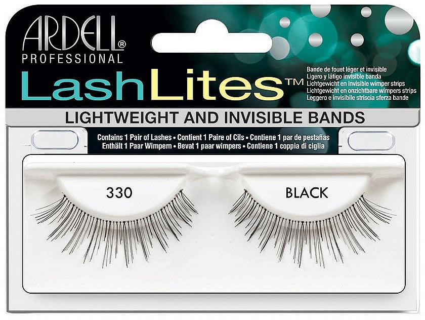 Pestañas postizas con banda invisible - Ardell LashLites Black 330 — imagen N1