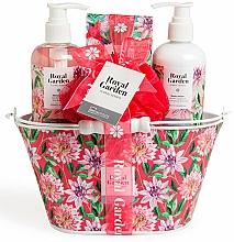 Perfumería y cosmética Set corporal (gel de ducha/250ml+ loción/250ml+ sales de baño/100g+ esponja) - IDC Institute Royal Garden (sh/g/250ml+b/lot/250ml+salt/100g+sponge)