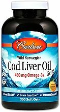Perfumería y cosmética Complemento alimenticio Aceite de bacalao, 460 mg - Carlson Labs Cod Liver Oil Gems