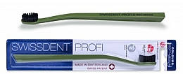 Perfumería y cosmética Cepillo dental de dureza suave-media, verde-negro - SWISSDENT Profi Colours Soft-Medium Toothbrush Green&Black