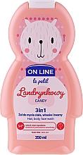Perfumería y cosmética Gel de ducha infantil para cuerpo, cabello y rostro con aroma a caramelo - On Line Le Petit Candy 3 In 1 Hair Body Face Wash