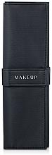 Perfumería y cosmética Funda para 5uds. de brochas y pinceles de maquillaje (vacía), negra - Makeup Basic