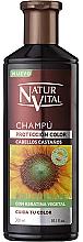 Perfumería y cosmética Champú para cabello teñido castaño - Natur Vital Coloursafe Henna Colour Shampoo Chestnut Hair