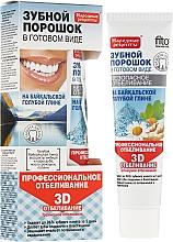 Perfumería y cosmética Polvo dental para blanqueamiento profesional de arcilla azul 3D - Fito Cosmetic, recetas populares